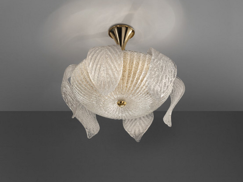 Glass ceiling lamp RIGA PL - Vetreria Vistosi