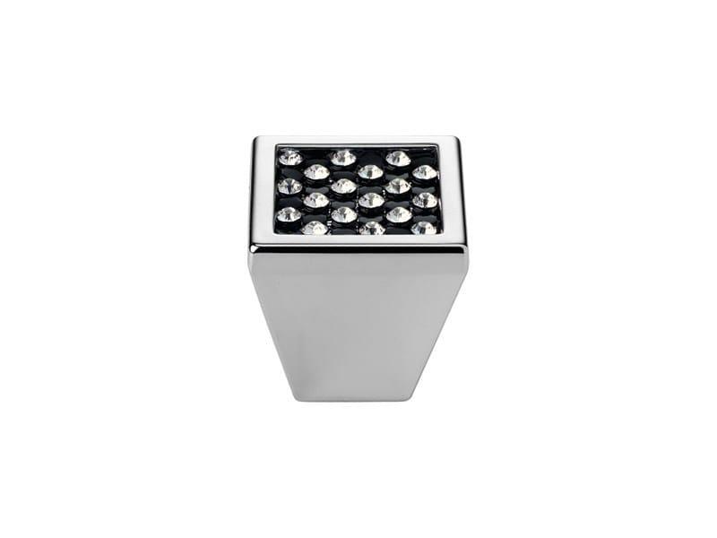 Contemporary style brass Furniture knob with Swarovski® Crystals MESH BLACK   Furniture knob with Swarovski® Crystals - LINEA CALI'