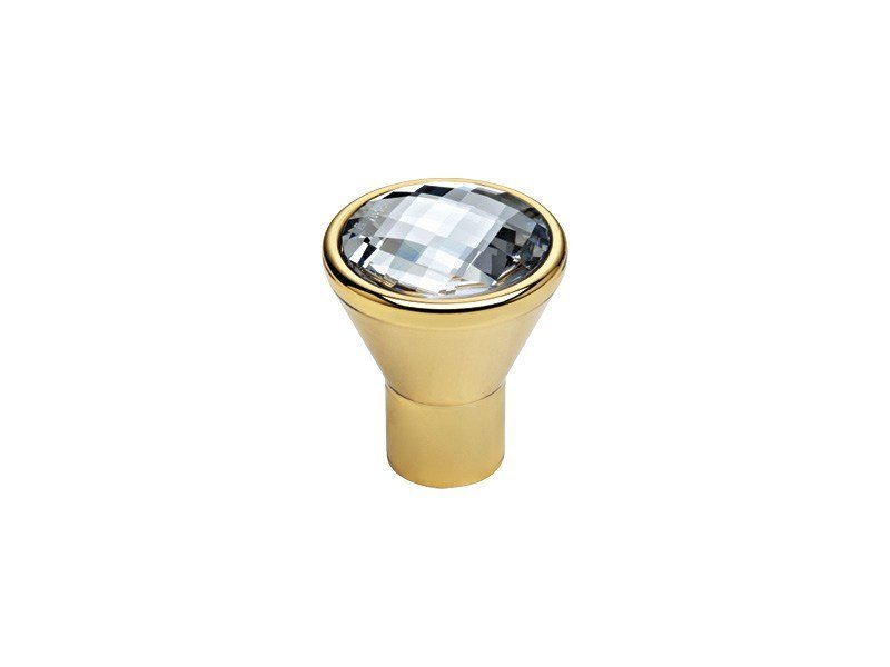 Classic style brass Furniture knob with Swarovski® Crystals VERONICA | Furniture knob with Swarovski® Crystals - LINEA CALI'