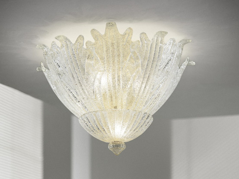 Glass ceiling lamp ROMANZA PL 30F - Vetreria Vistosi