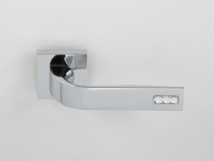 Door handle on rose polished chrome JOUR | Door handle - Frascio