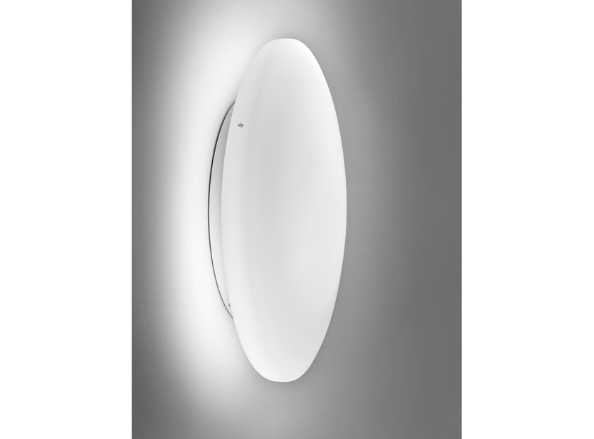 Satin glass wall light SOFT AP - Vetreria Vistosi