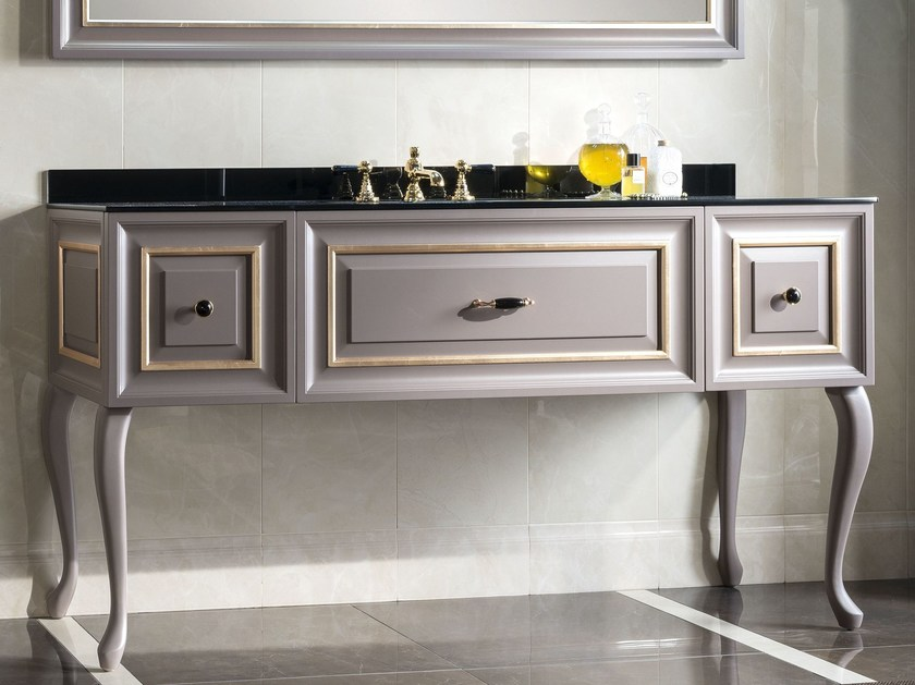 Wooden bathroom cabinet ELEGANCE 1 | Bathroom cabinet by BLEU PROVENCE