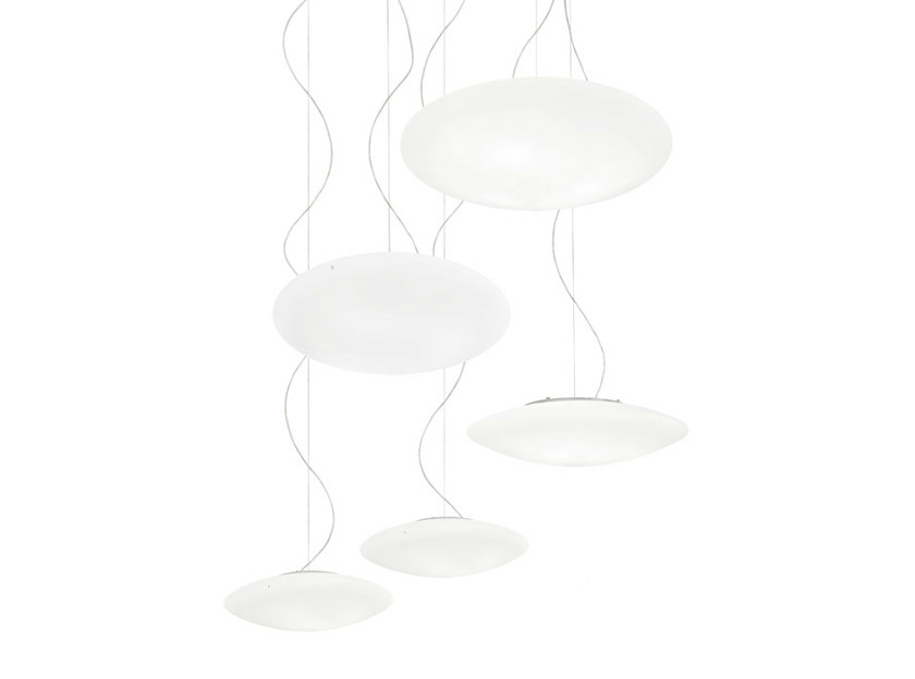 Blown glass pendant lamp SABA SP - Vetreria Vistosi