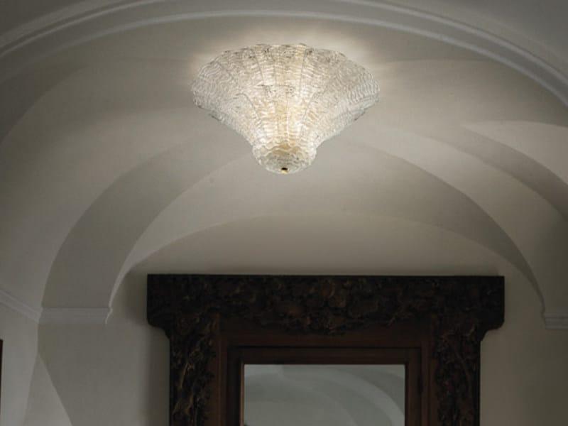 Glass ceiling lamp SAN GIORGIO PL 46FP - Vetreria Vistosi