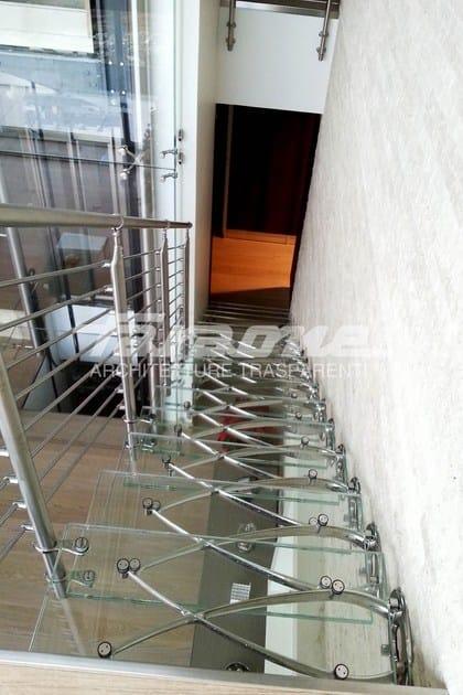 Scala a sbalzo in acciaio inox e vetro twin faraone - Normativa scale interne ...