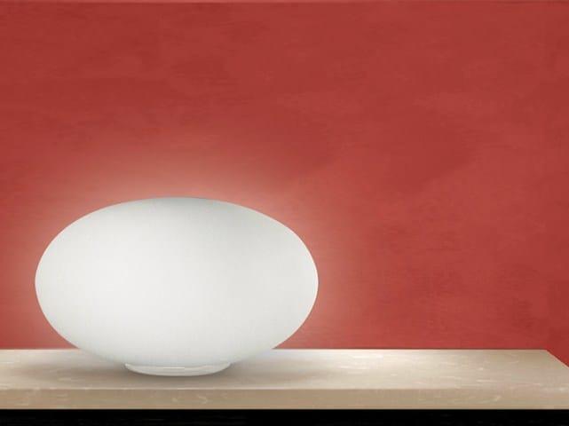 Blown glass table lamp BIANCOLATTE | Table lamp - Cattaneo Illuminazione