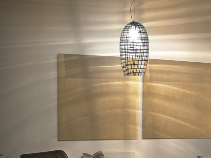 Glass pendant lamp YUBA SP 26 - Vetreria Vistosi