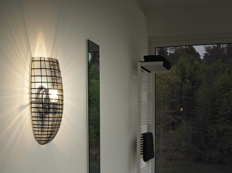 Glass wall light YUBA AP 26 by Vetreria Vistosi