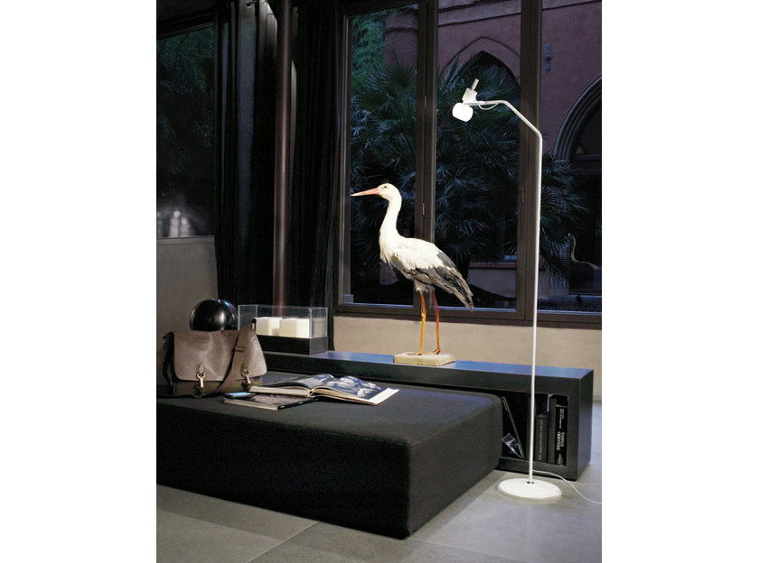 Adjustable glass floor lamp VEGA PT - Vetreria Vistosi