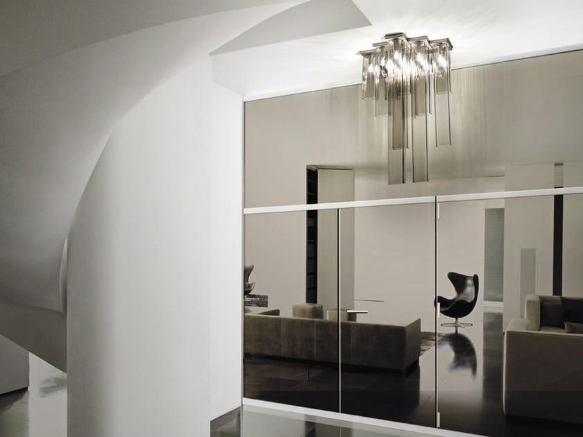 Blown glass ceiling lamp TUBES PL 15 - Vetreria Vistosi