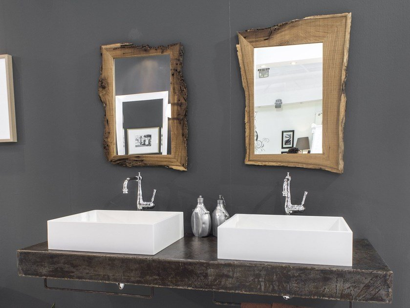 Piano lavabo in legno new age piano lavabo bleu provence - Piani lavabo bagno ...