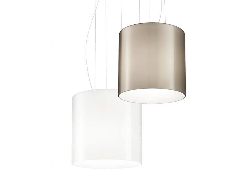 Glass pendant lamp TREPAI SP by Vetreria Vistosi