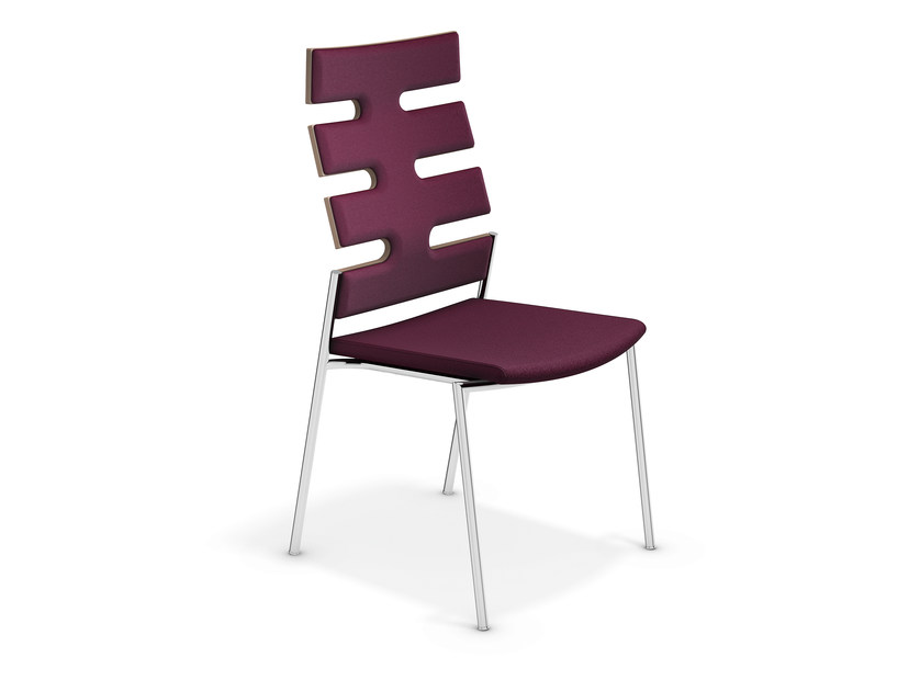 High-back fabric chair KEEP MOVING | High-back chair - Casala