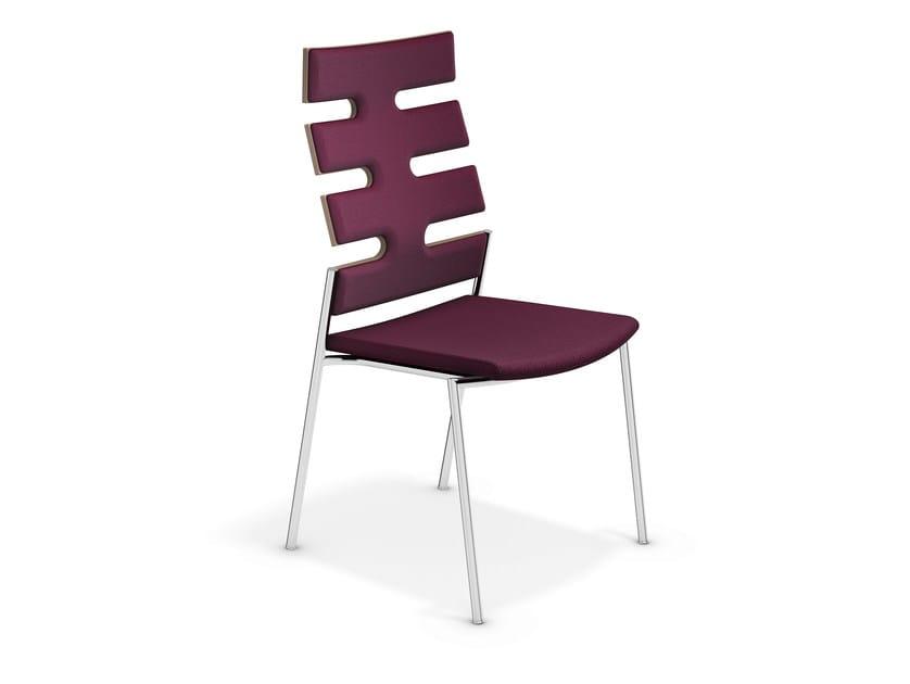 High-back fabric chair KEEP MOVING | High-back chair - Casala