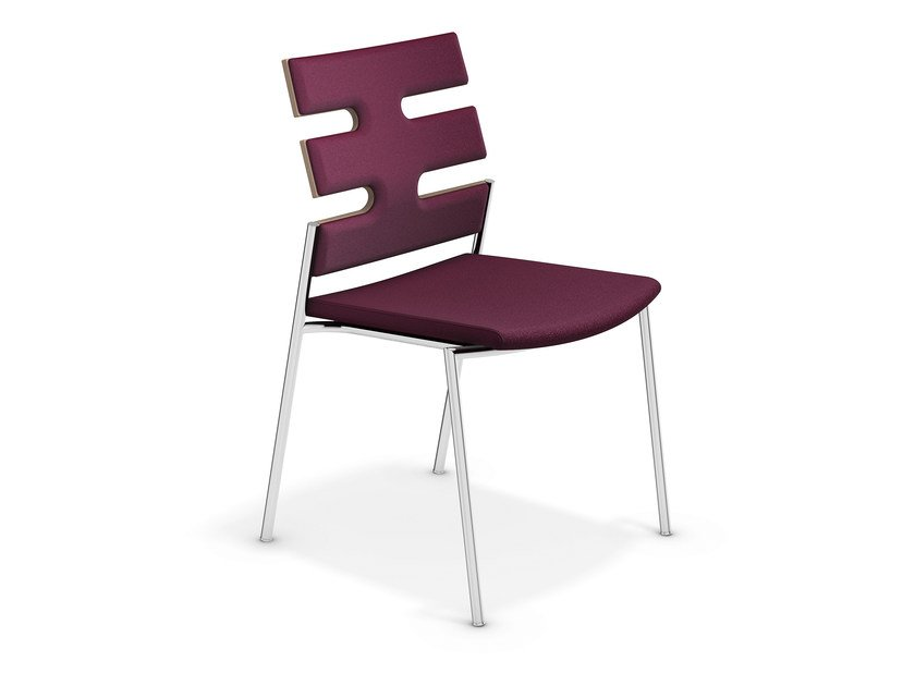 Upholstered fabric chair KEEP MOVING | Fabric chair by Casala