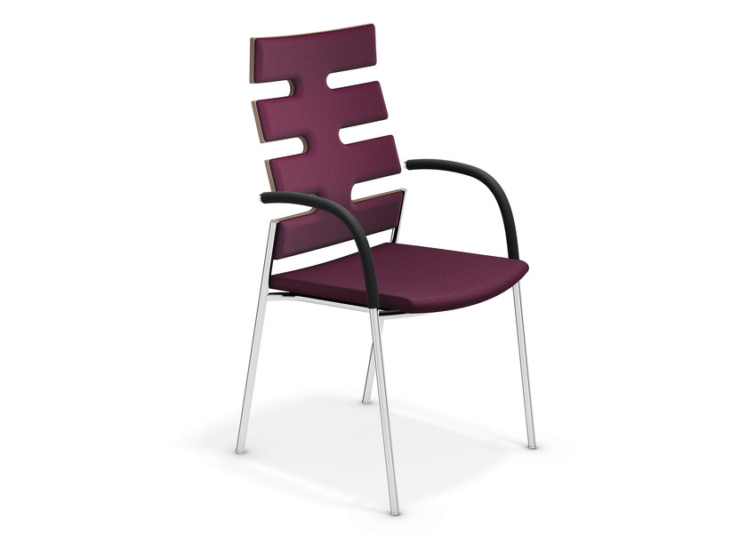 High-back chair with armrests KEEP MOVING | High-back chair - Casala