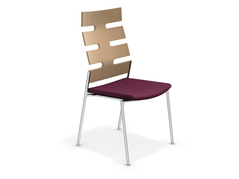 High-back chair KEEP MOVING | Chair - Casala