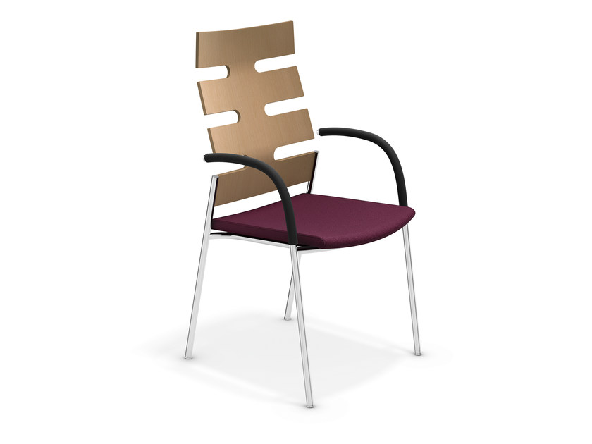 High-back chair with armrests KEEP MOVING | Chair with armrests - Casala