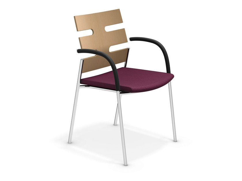 Chair with armrests KEEP MOVING | Chair - Casala