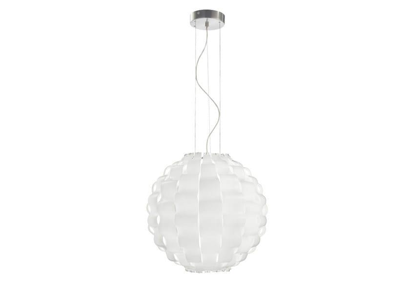 Glass pendant lamp TAHOMA ROUND SP - Vetreria Vistosi