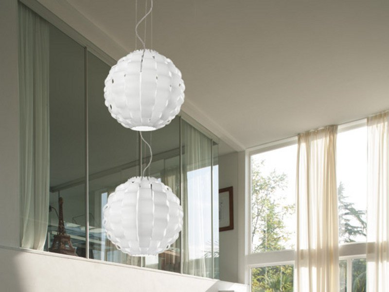 Glass pendant lamp TAHOMA ROUND SP 2 - Vetreria Vistosi