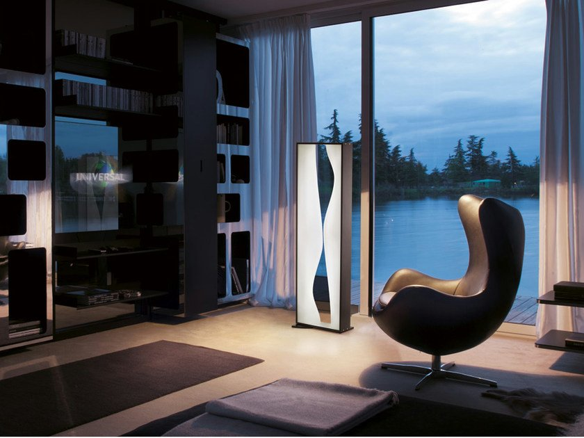 Laminate floor lamp TABLO' PT - Vetreria Vistosi