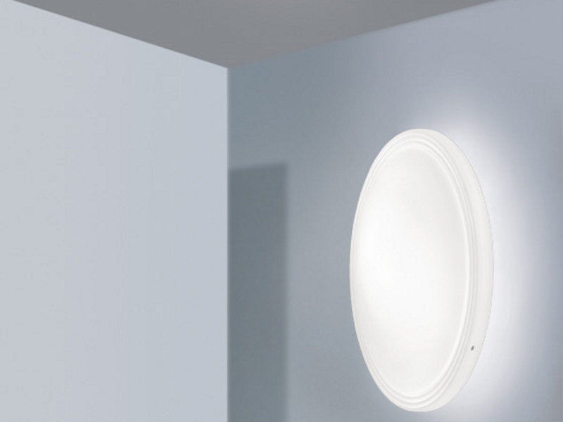 Satin glass wall light STYLE AP by Vetreria Vistosi