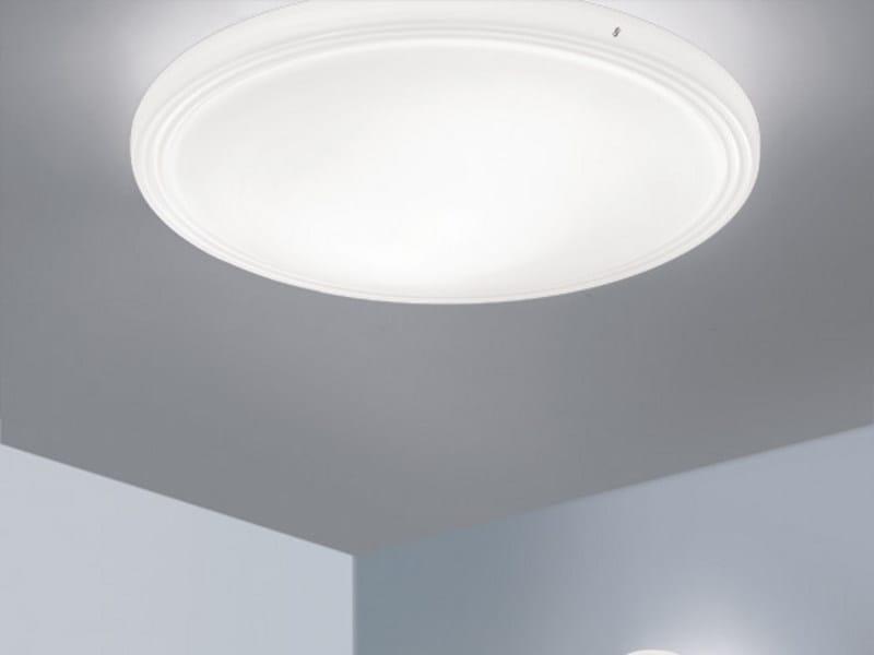 Satin glass ceiling light STYLE PL - Vetreria Vistosi