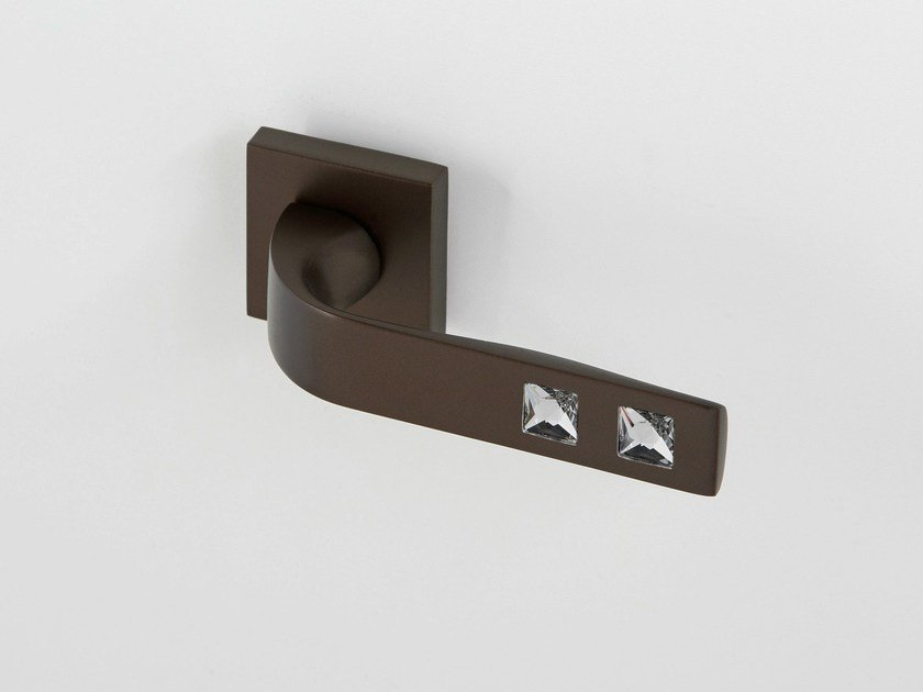 Door handle on rose bronze NUIT | Door handle - Frascio