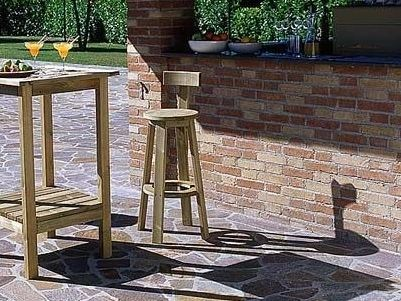 High wooden garden stool RITROVO | High stool - Legnolandia