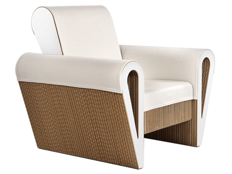 Kraft paper armchair with armrests DAHILA - Staygreen
