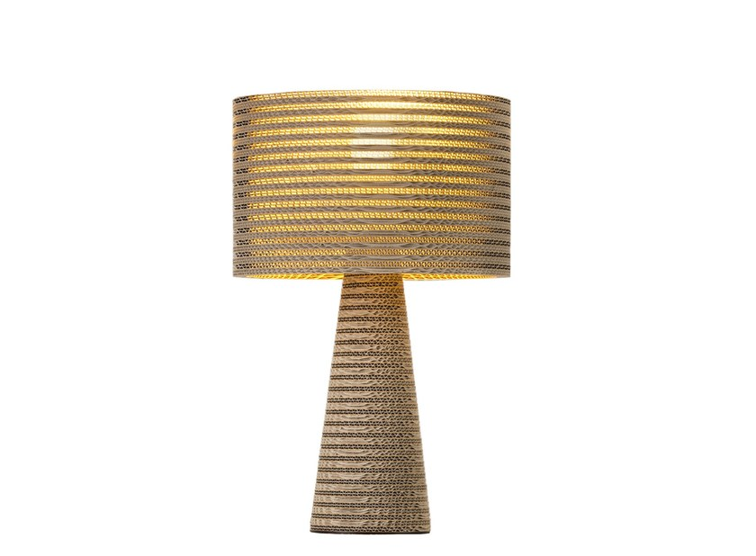 Kraft paper table lamp MISHA | Table lamp - Staygreen