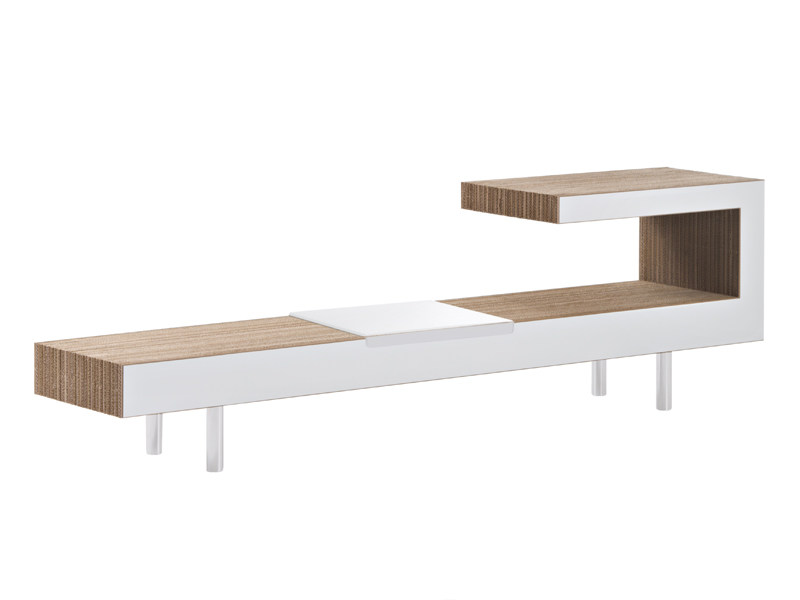 Kraft paper coffee table for living room VICTOR - Staygreen