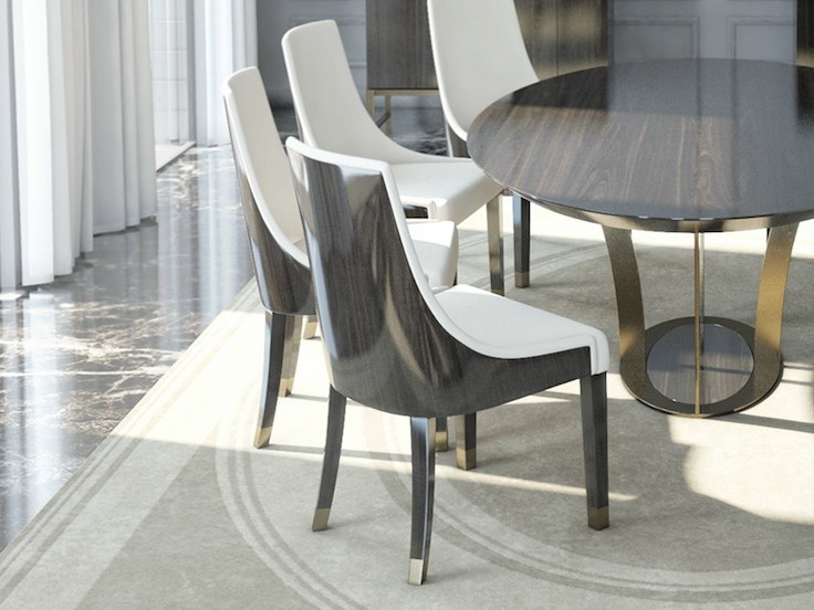 Wooden chair PARIS | Chair by HUGUES CHEVALIER