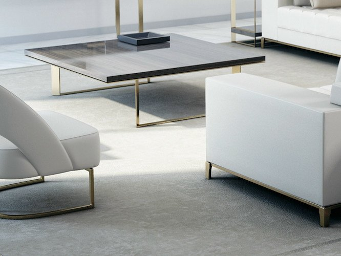 Wooden coffee table for living room PARIS   Coffee table for living room by HUGUES CHEVALIER