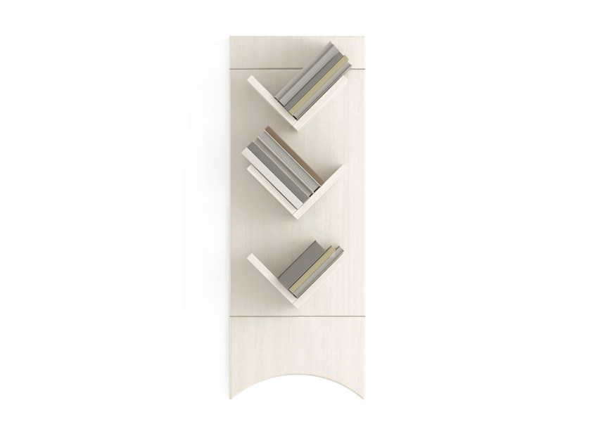 Open wall-mounted wooden bookcase TABIÀ | Wall-mounted bookcase - Scandola Mobili