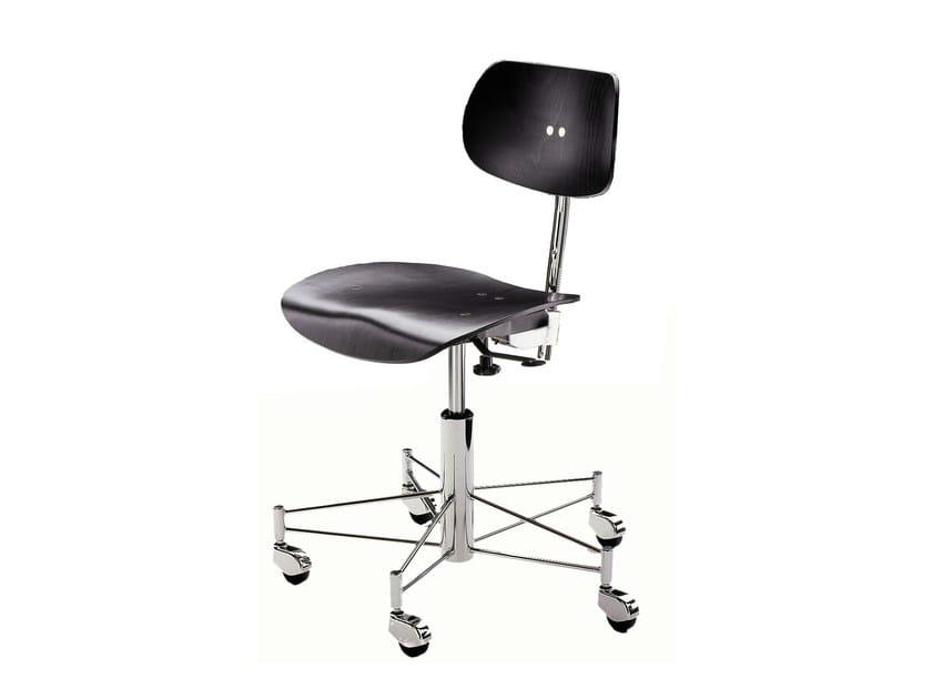Height-adjustable task chair with casters SBG 197 R | Task chair - WILDE+SPIETH Designmöbel