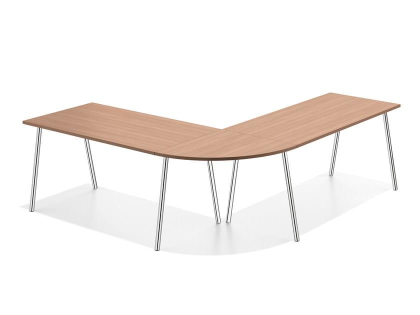 Modular wooden meeting table LACROSSE III | Modular meeting table - Casala
