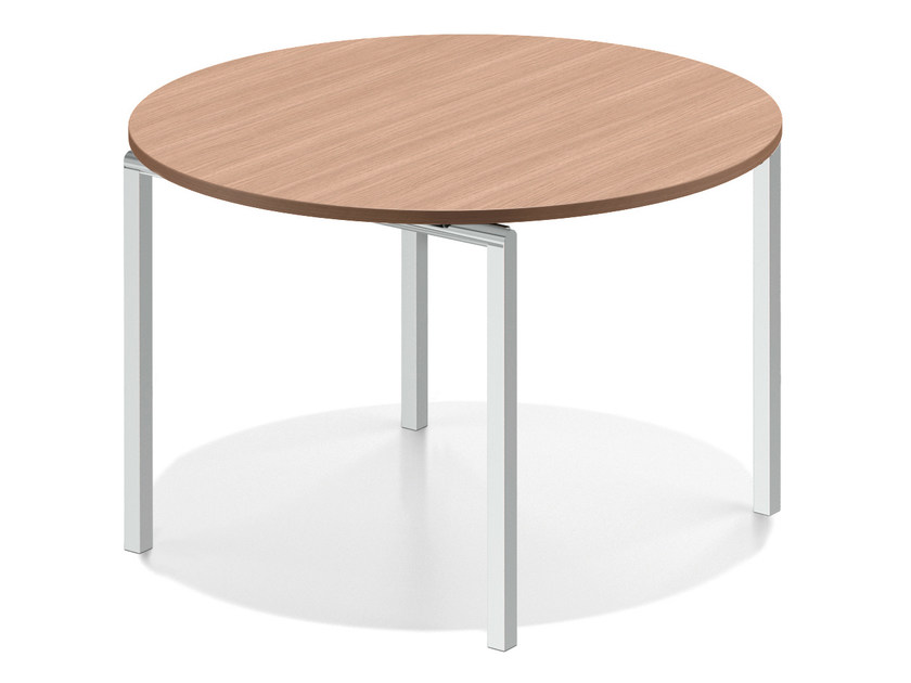 Round wooden meeting table LACROSSE V | Round table - Casala