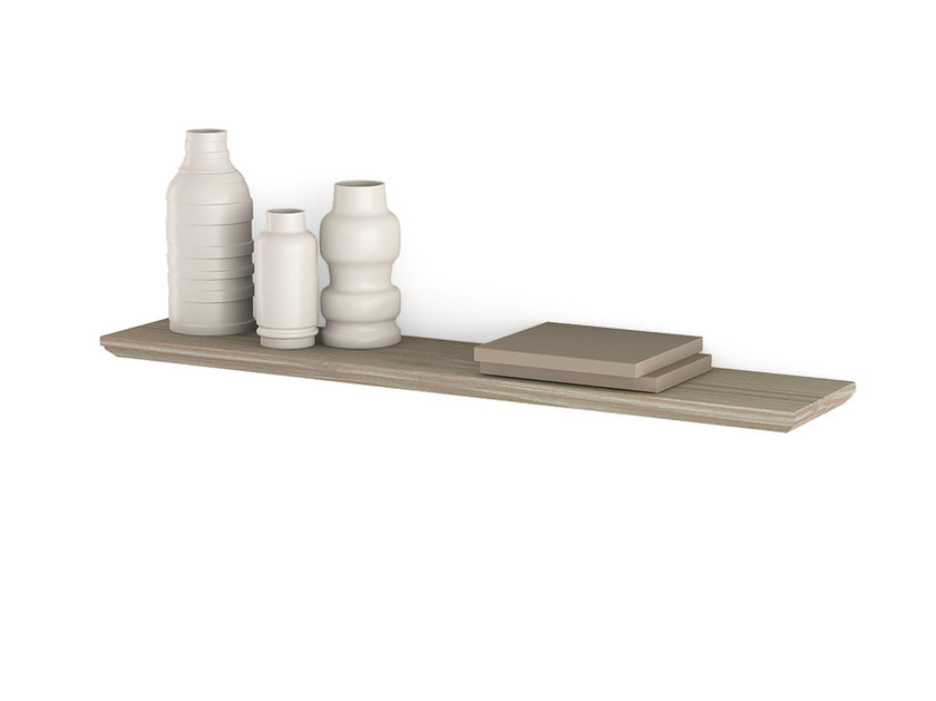 Wooden wall shelf Wall shelf by Scandola Mobili