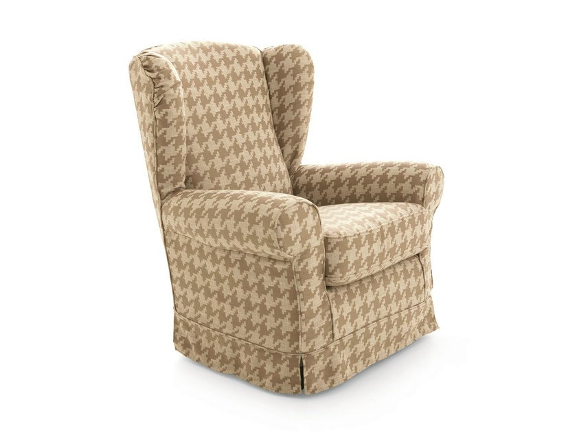 High-back fabric wingchair Wingchair - Scandola Mobili