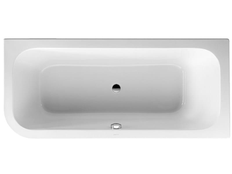 Vasca da bagno angolare in acrilico su piedi collezione happy d by duravit italia design - Vasca da bagno duravit ...