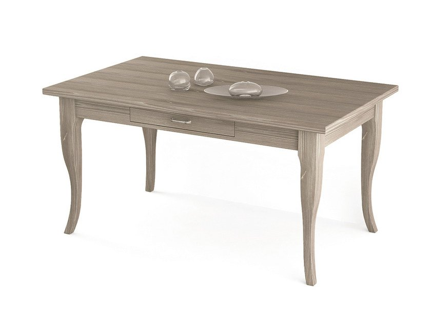 Rectangular wooden table with drawers Table with drawers - Scandola Mobili