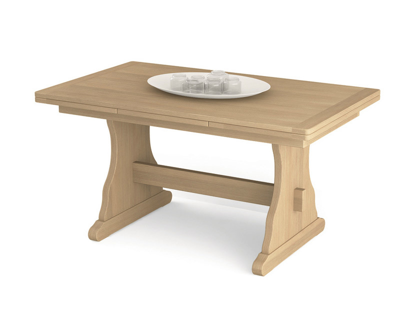 Extending rectangular wooden table Rectangular table - Scandola Mobili