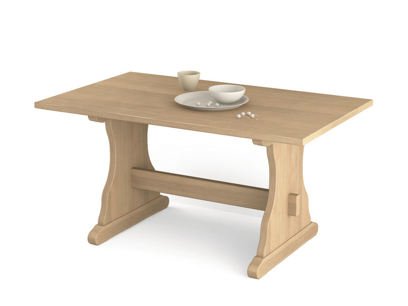 Rectangular wooden table FRATINO | Rectangular table by Scandola Mobili