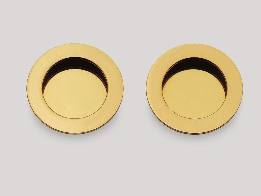 Recessed brass door handle KIT D - Frascio