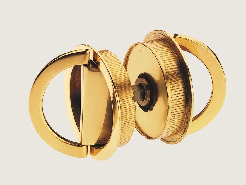Recessed brass door handle KIT O - Frascio