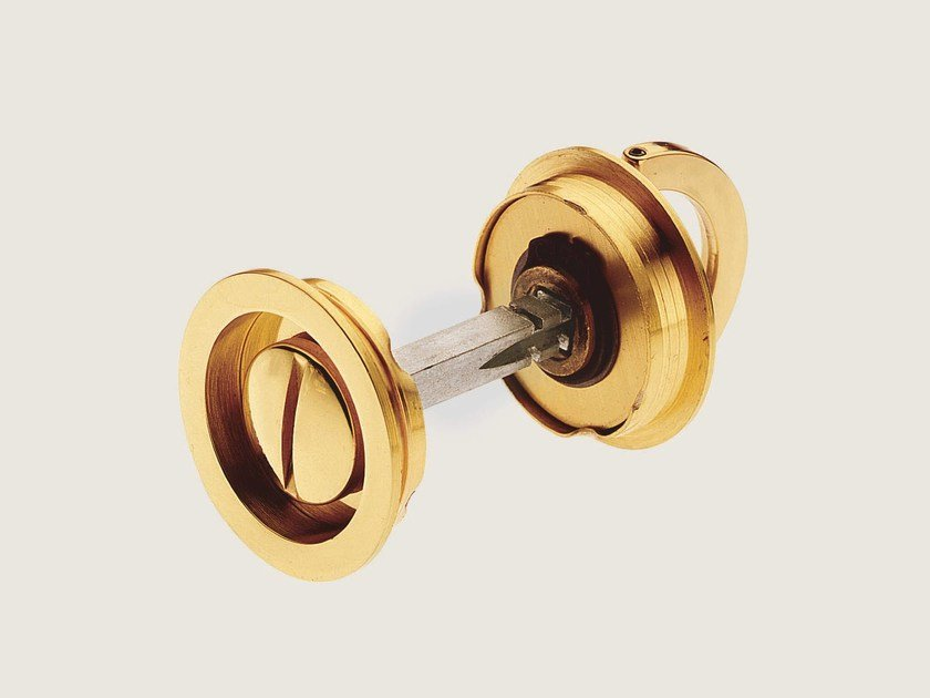 Recessed brass door handle KIT N - Frascio