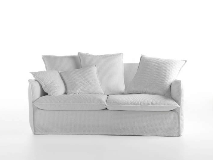 2 seater sofa with removable cover MILOS | 2 seater sofa by horm